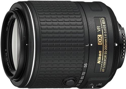 Nikon 55 200mm F4 5.6G ED IF AF S DX VR Lens