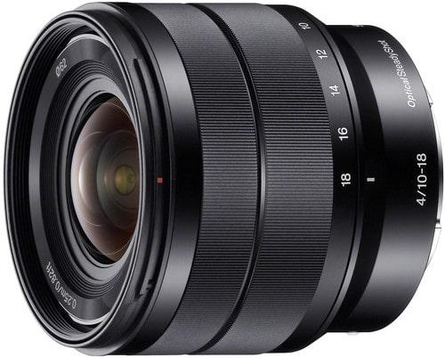 Sony E 10 18mm F4 OSS Wide Angle Zoom Lens
