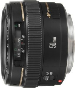Canon EF 50mm F1.4 Medium Telephoto Lens