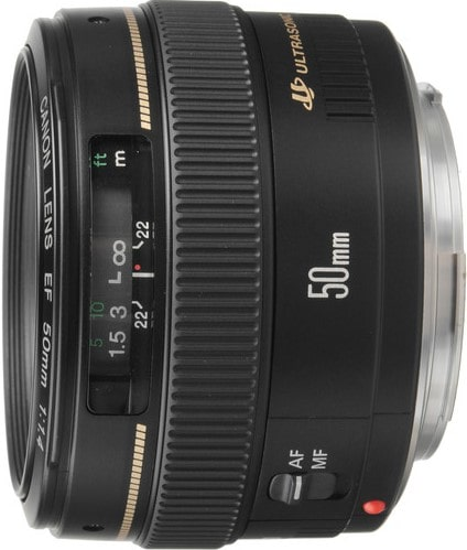 Canon EF 50mm F1.4 Medium Telephoto Lens